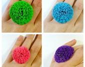 Custom Chrysanthemum Duct Tape Ring - Choose a Color
