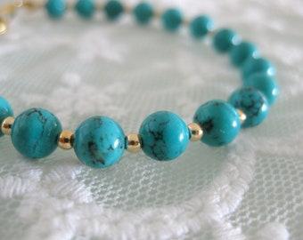 Classic turquoise gemstone bracelet for everyday