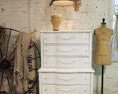 Painted Cottage Chic Shabby Romantic White Dresser CH365