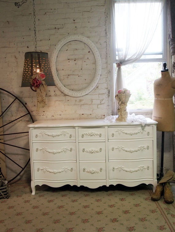 Painted Cottage Handmade One of A Kind Romantic Dresser DR396