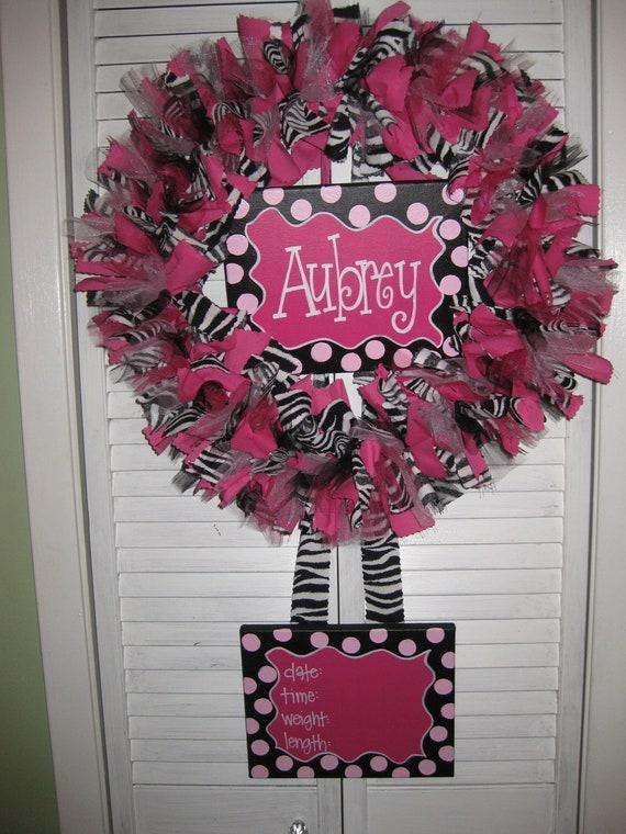 Custom Boutique Baby Wreaths, Birth Announcements, and Hospital Door Hangers