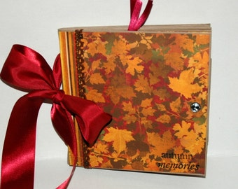 UnIqUe THANKSGIVING - AuTuMn -  Paper Bag Album - Scrapbook -  Journal