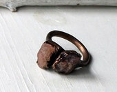 Spinel Ring Rough Gemstone Ring Mineral Ring Jewelry Fall Autumn Gem Cinnamon Red Warm Brown Artisan Handmade