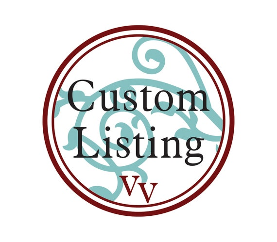 Custom Listing- Custom sized flame