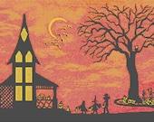 Cross Stitch Pattern  PDF - Halloween Chart The Best Night of the Year