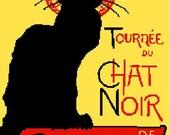 Cross Stitch Pattern PDF- Le Chat Noir by Abracraftdabra Designs
