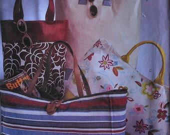 Tote Bags Sewing Pattern Uncut Butterick 3796 tote bag