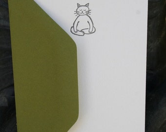 Meditating Cat Stationery Set - by Tiny Pine Press