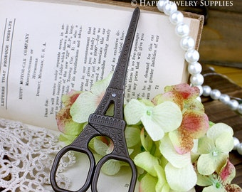 1pcs High Quality Vintage Style Eiffel Tower Stainless Steel Antique Bronze Scissors  (T09)
