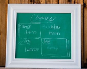 Vintage Chalkboard - Repurposed School Chalkboard