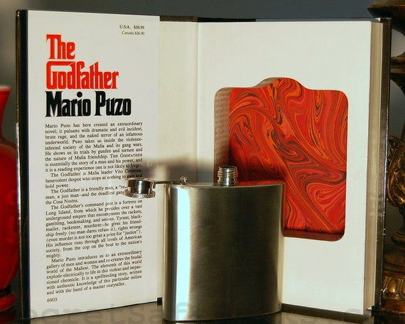 Hollow Book Safe & Flask THE GODFATHER (Flask Included)