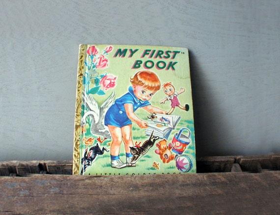 1942 A Little Golden Book My First Book No. 10
