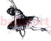 reserved for Lisa, The dancer, ballet art, art print, wall art, hand drawing, charcoal drawing, black and white, ballet dancer, wall decor
