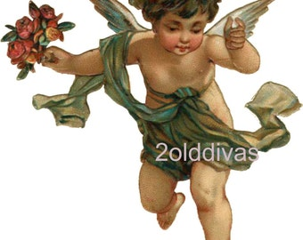 Old World Angels Waterslide Decals Vintage Style