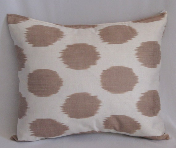 16x16 Silk cotton Uzbek Ikat Pillow case - handloom ikat fabric and hand dyed