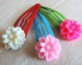 Mum Hair Clips set of 3, Snap clips, children baby hair accessories, Spring time Hair accessory, Barrettes, Kawaii, party favor, photo props
