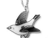 Little Bird necklace - A Little Bird Told Me... - Sparrow, Wren, Small Garden Bird