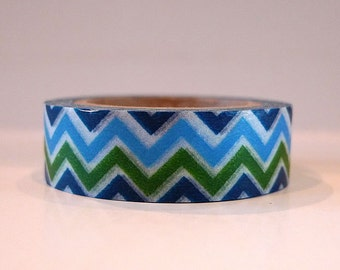Golf Party Blue and Green Washi Tape CHEVRON