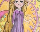 Original Tangled Rapunzel Painting