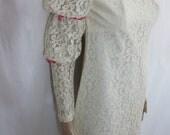 1960s White Lace Mini Cocktail Dress