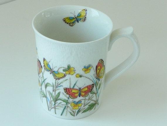 Vintage Otagiri Butterfly Mug Cup. Ivory Stone.