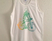 skeleton biker - men's tank size M
