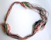 Colorful boho multistrand  Necklace