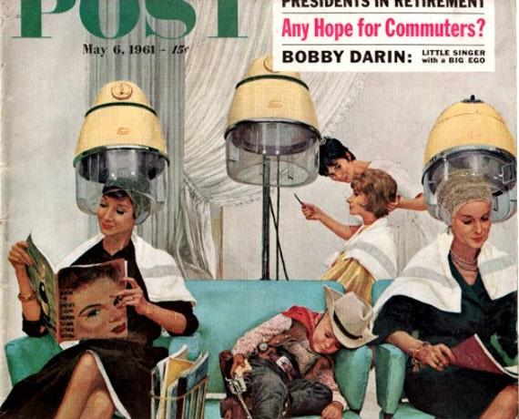 vintage post cover the beauty shop 1961 advertisement