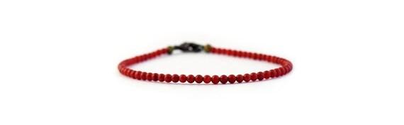 Tiny Red Coral Bracelet