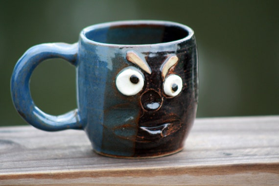 Coffee Cup, Black and Blue