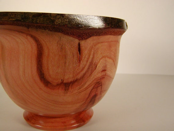 Natural Edge Wild Cherry Wood Turned Bowl #2120
