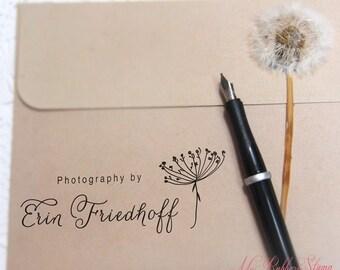 Queen Anne's Lace Stamp (Pre-inked Stamp) Flower Stamp • Custom Return Address Stamp • Business Stamp • Teacher Appreciation Gift (P1067)