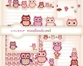 Woodlands Owl Stationery - Printable PDF