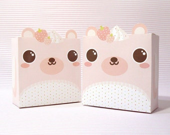 Strawberry Bear Giftbox Printable PDF