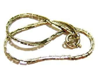 silver tone links vintage bracelet  SSB1