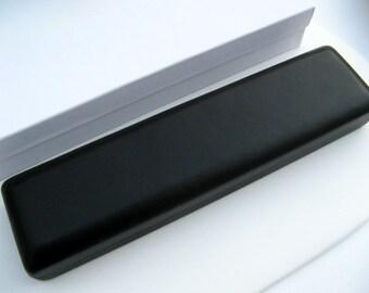 Black Wrist Watch Gift Box - Bracelet Gift Box - Luxury jewelry gift box -  High quality soft faux black leather