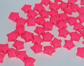 Origami Lucky Stars - Fluorescent Hot Pink  (custom orders available)