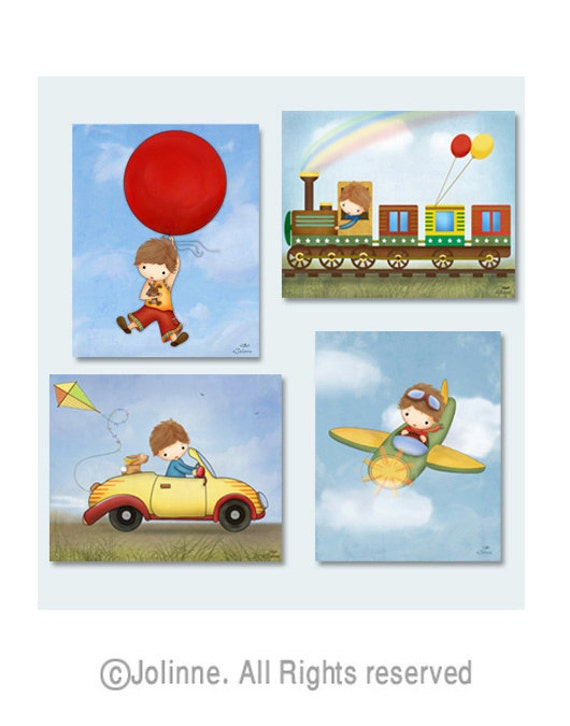 Children 39 s wall art prints boys room decor baby boy for Boys wall art
