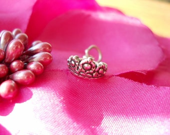 Add-On Princess Crown Sterling Silver Charm X028