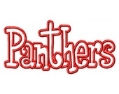 Panthers Embroidery Machine Applique Design 2703