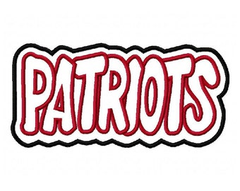 Patriots Embroidery Machine Double Applique Design 2737