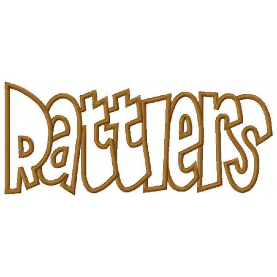 Rattlers Embroidery Machine Applique Digital Design 2892