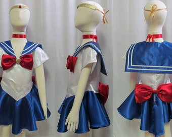 Child's Sailor Moon Costume Cosplay Costume Size Girls 18 mo 2 3 4 5 6 7 8 9 10 11 12 14