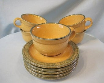 Pfaltzgraff America Pattern (5) Cup and Saucer Sets