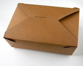 """Large Kraft Take Out Box - 8-1/2 x 6-1/4 x 2-1/2"""""""