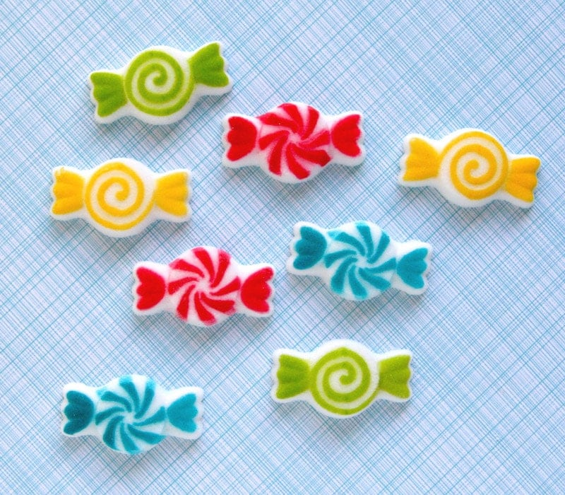 Candy Edible Sugar Decorations for Cupcake and by sweetestelle