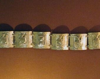 Silver Bracelet Peru Silver Panels