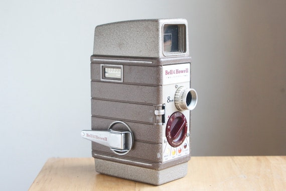 RESERVED FOR T Movie Camera, Bell Howell Two Fifty Two, Case and Lenses, Retro Home Decor, On Sale