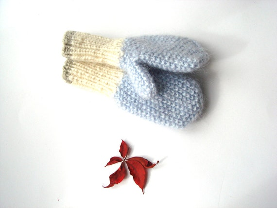 Knit Toddler Mittens, Kids gloves, children mittens, gift