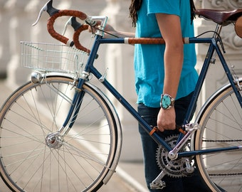 "Bicycle Frame Handle - The ""Little Lifter"" - Leather Bike Handle"